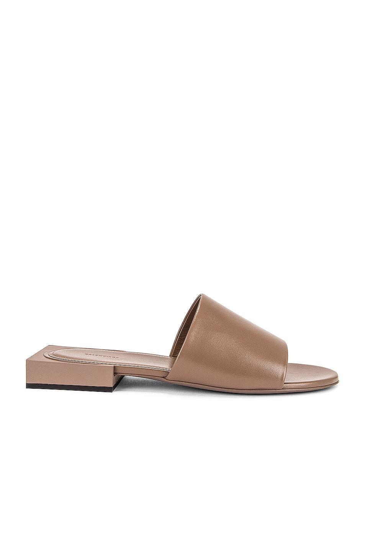 Image 1 of Balenciaga Box Sandals in Mink Grey & Black