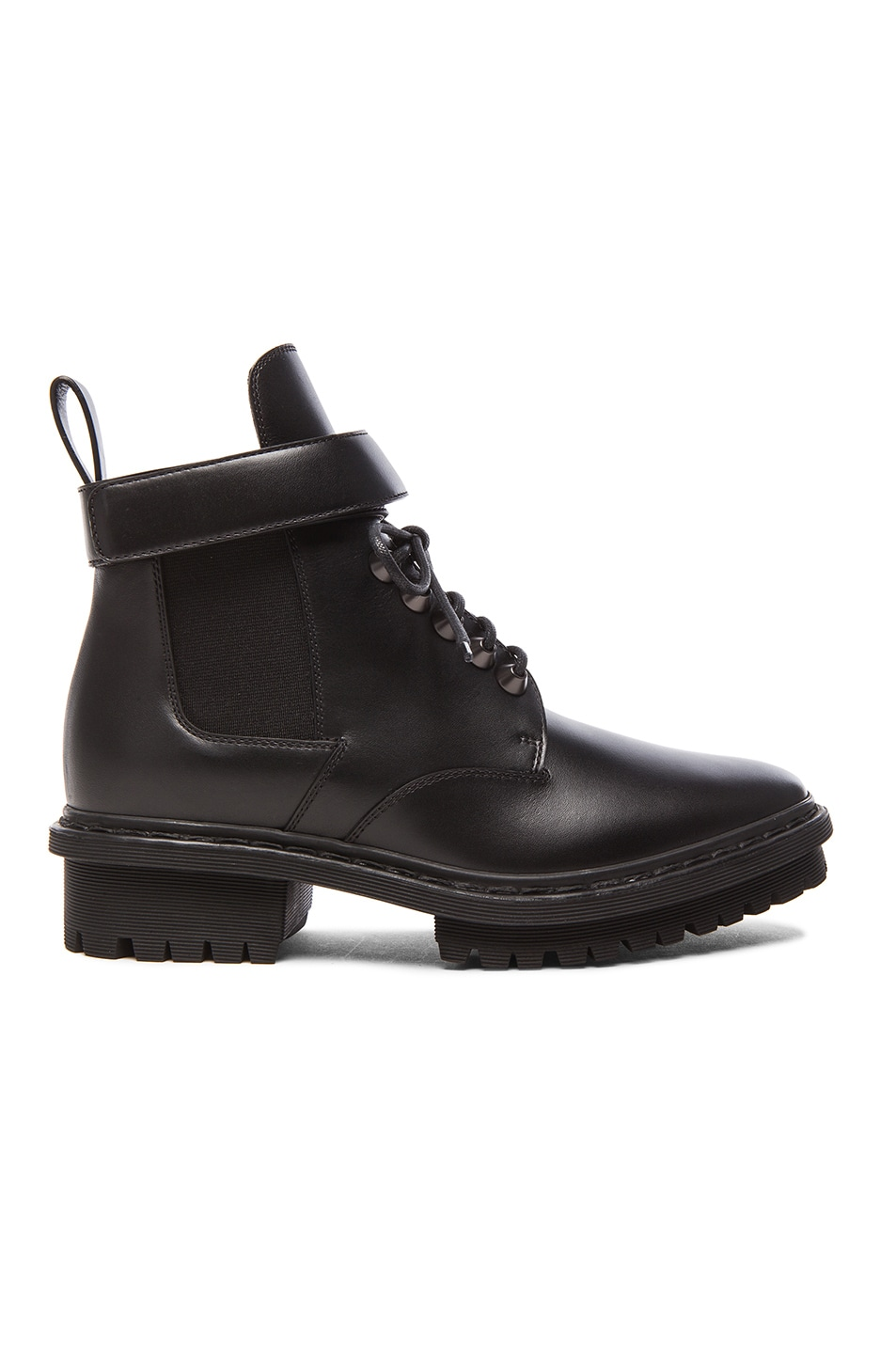 Image 1 of Balenciaga Unit Leather Ankle Boots in Black