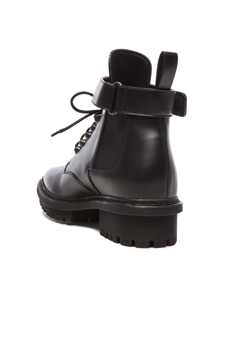 Image 3 of Balenciaga Unit Leather Ankle Boots in Black