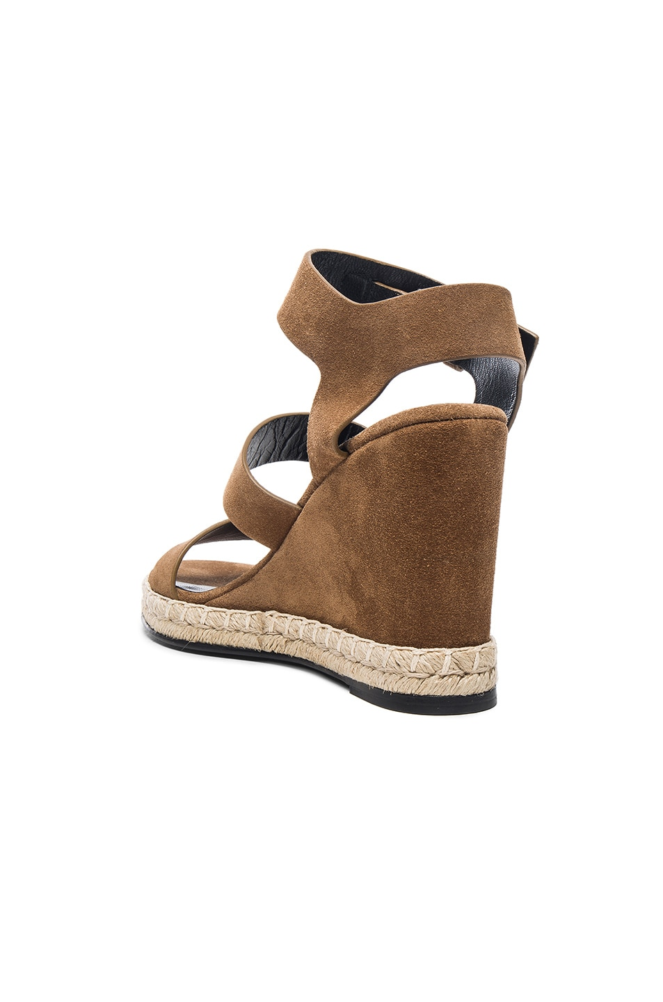 Image 3 of Balenciaga Suede Wedge Sandals in Noisette