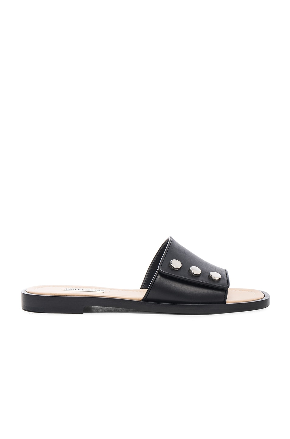 f5fd6a73ab70 Image 1 of Balenciaga Studded Slide Sandals in Black