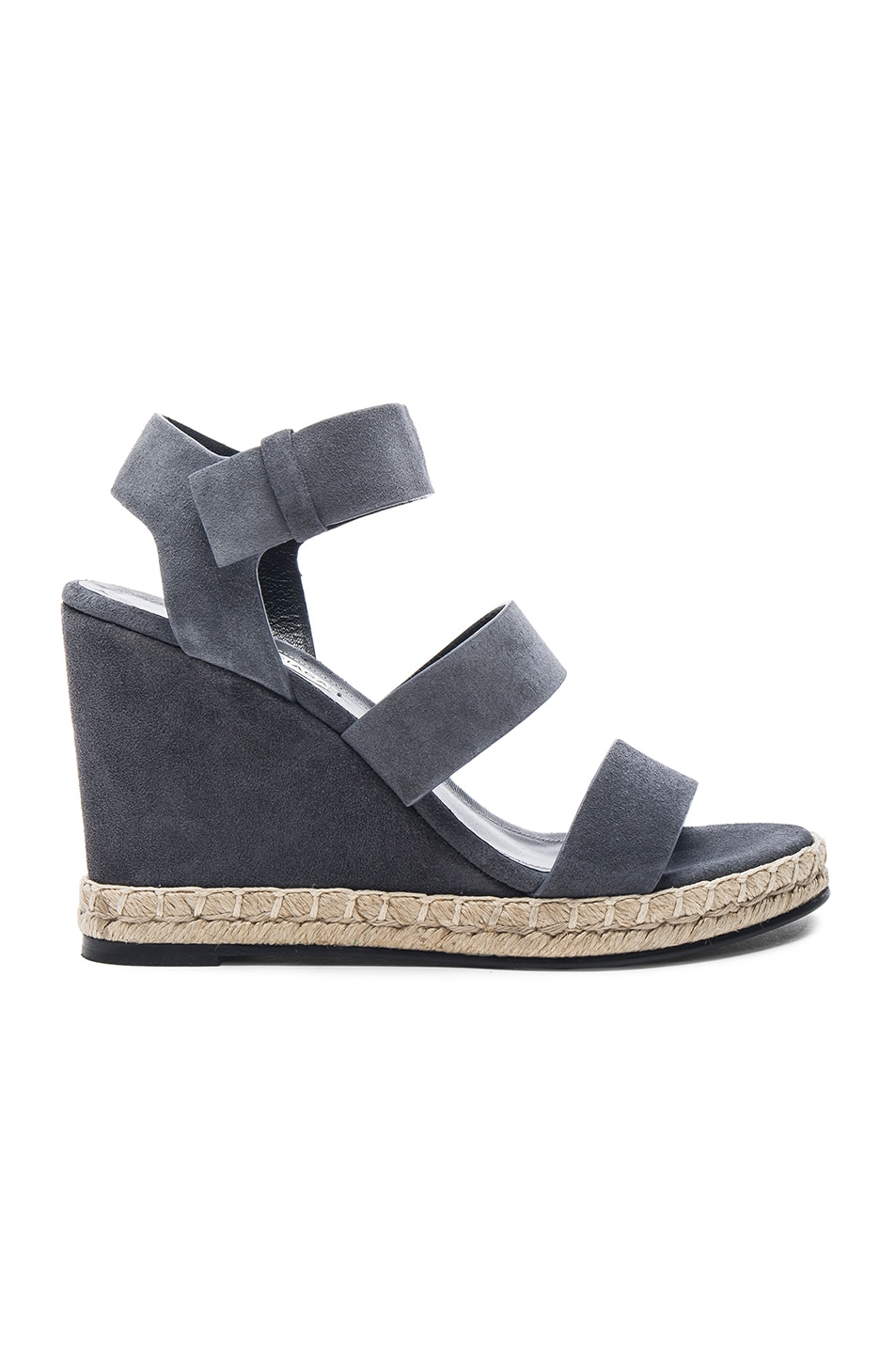 Image 1 of Balenciaga Suede Wedge Sandals in Grey