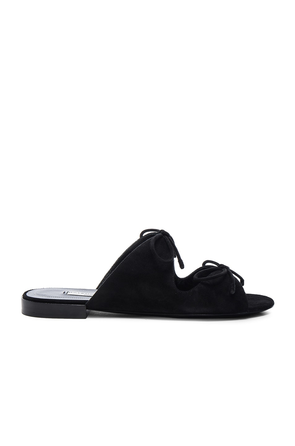 Image 1 of Balenciaga Suede Tie Sandals in Black