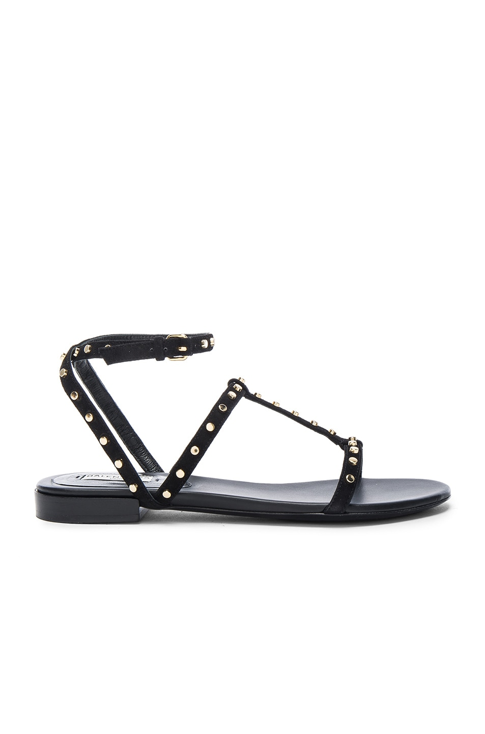 683458f19ffd Image 1 of Balenciaga Studded Suede Sandals in Black
