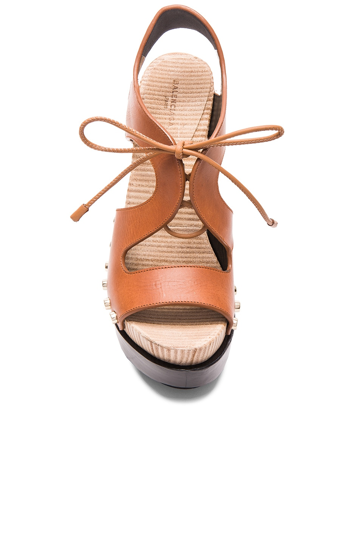 985dfbb04df5 Image 4 of Balenciaga Leather Platform Sandals in Caramel