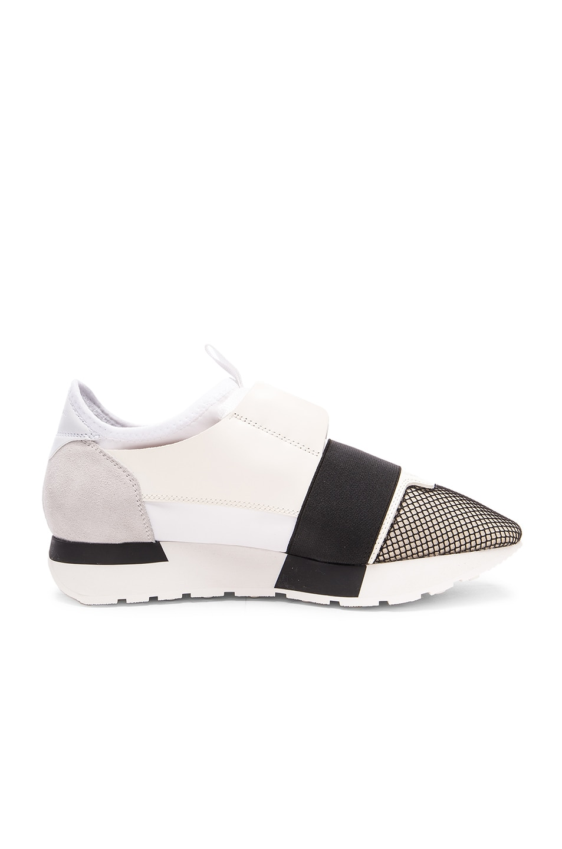 Image 1 of Balenciaga Runner Sneakers in White Multi