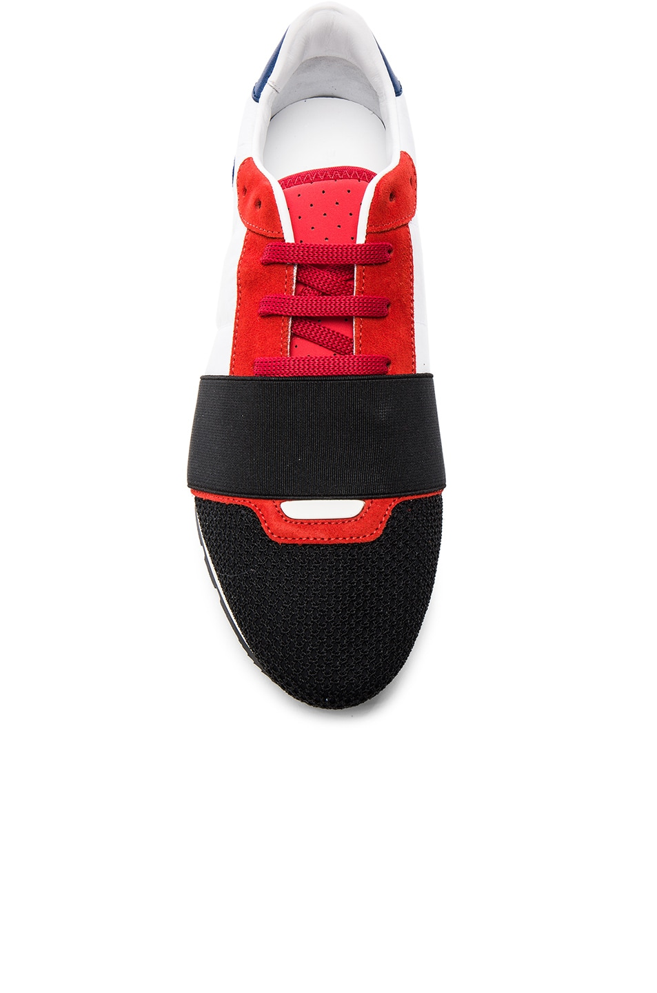 901de2541474 Image 4 of Balenciaga USA Runner Sneakers in Red Multi