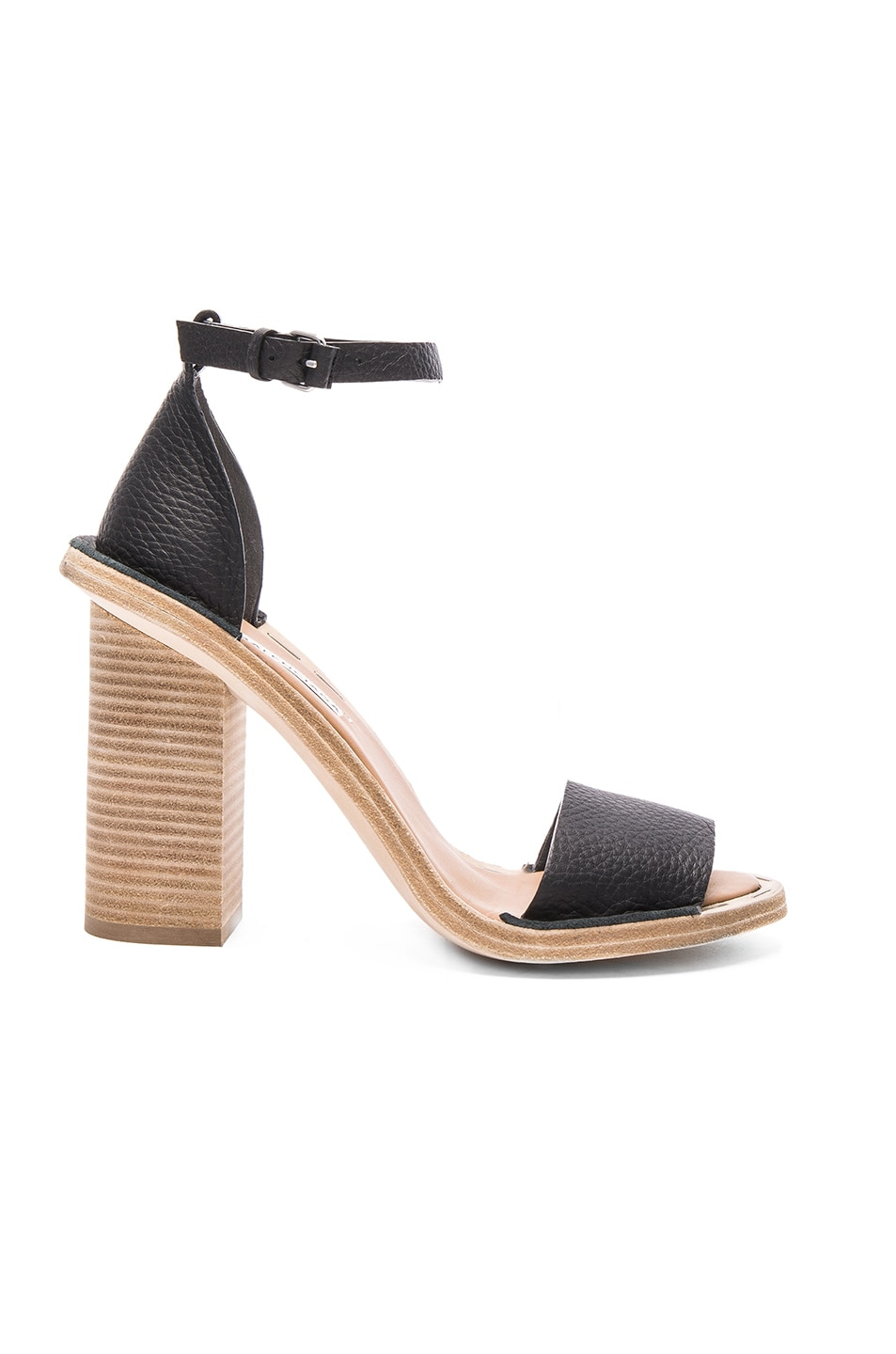 Image 1 of Balenciaga Leather Ankle Strap Heels in Black