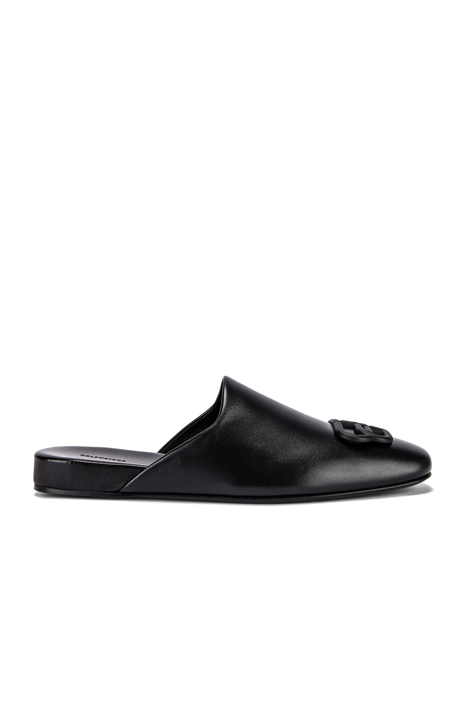 Image 2 of Balenciaga Cosy BB Flat Mules in Black
