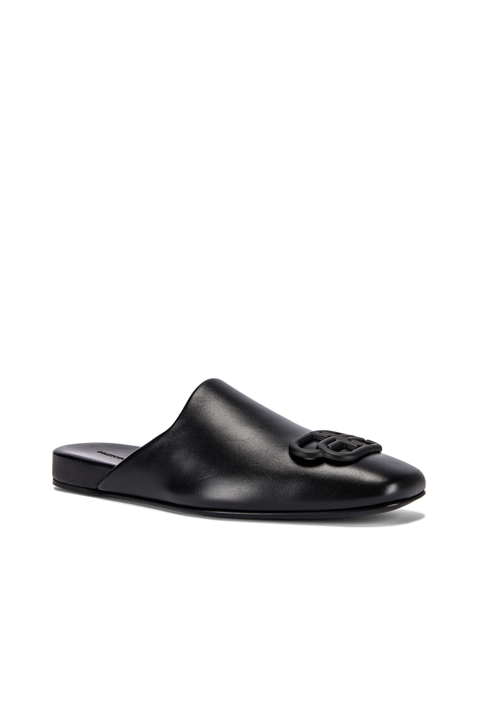Image 3 of Balenciaga Cosy BB Flat Mules in Black