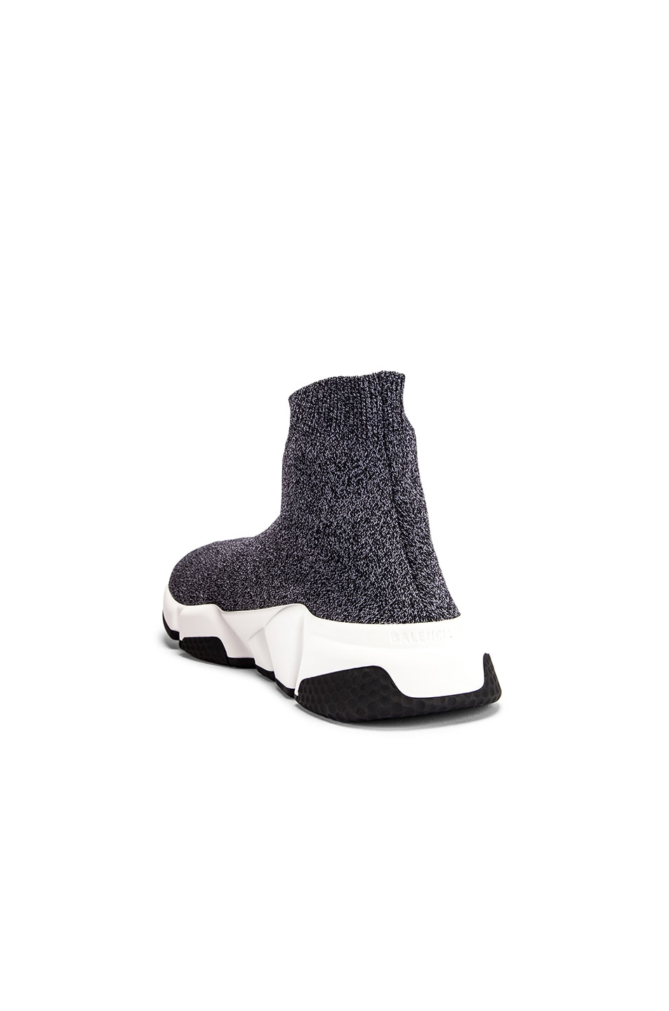 Image 3 of Balenciaga Speed Knit Sneakers in Black & White