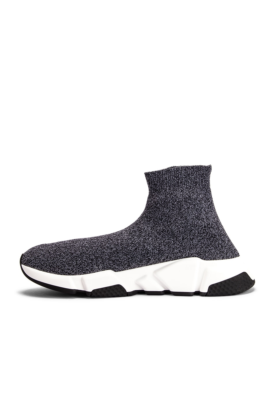 Image 5 of Balenciaga Speed Knit Sneakers in Black & White
