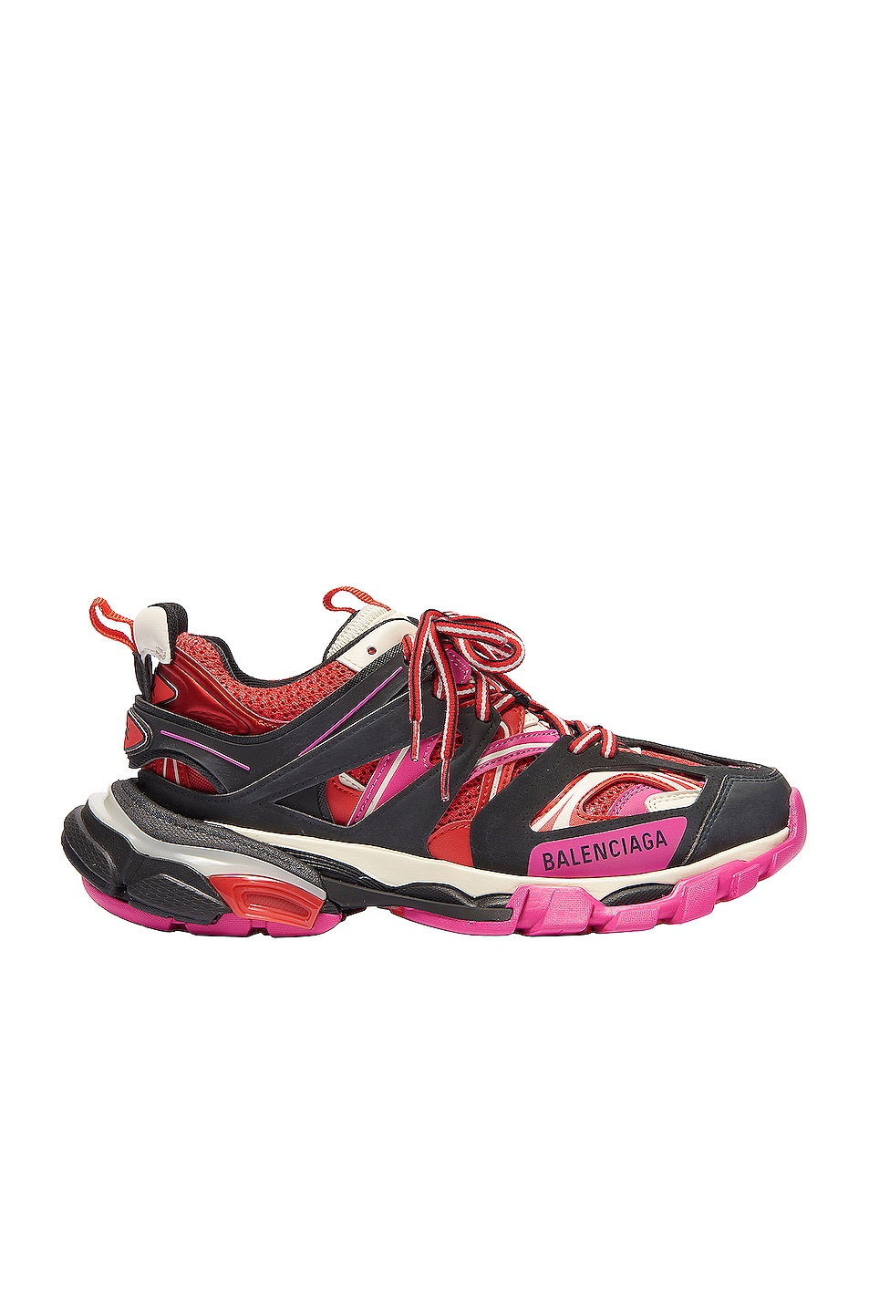 Image 1 of Balenciaga Track Sneakers in Black & Pink