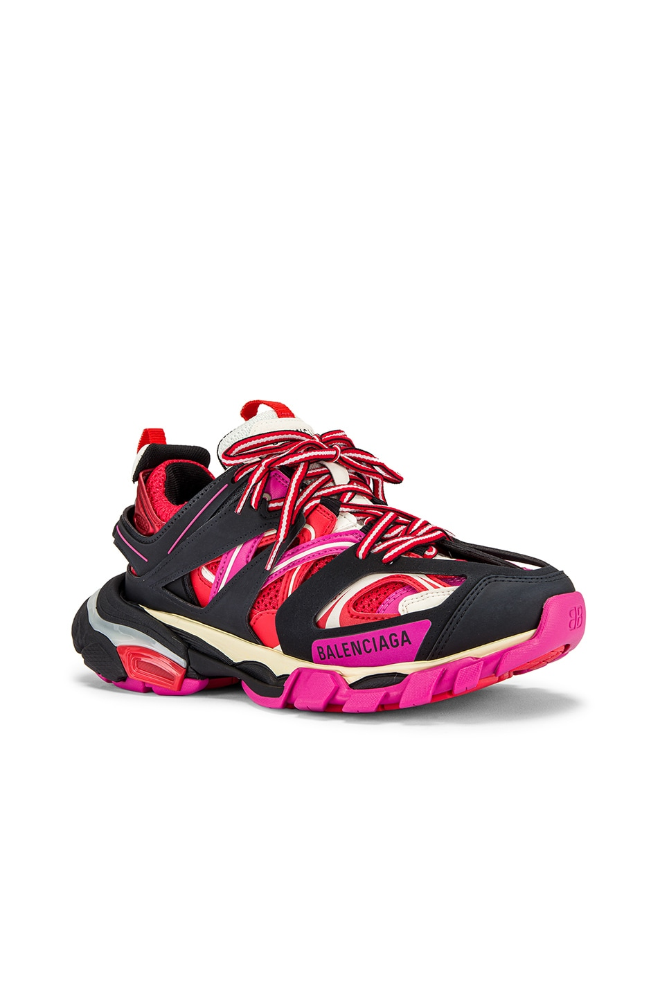 Image 2 of Balenciaga Track Sneakers in Black & Pink