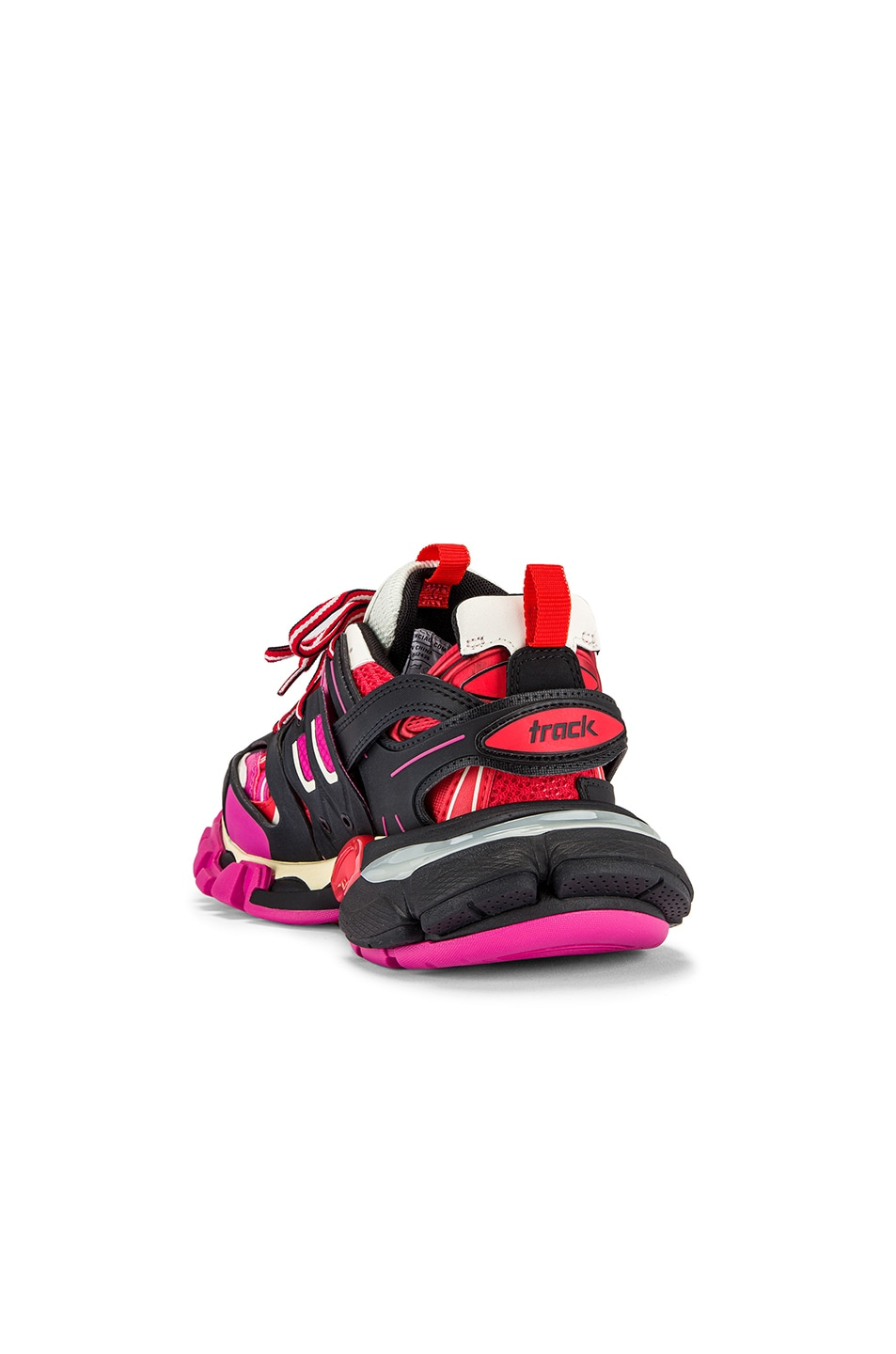 Image 3 of Balenciaga Track Sneakers in Black & Pink