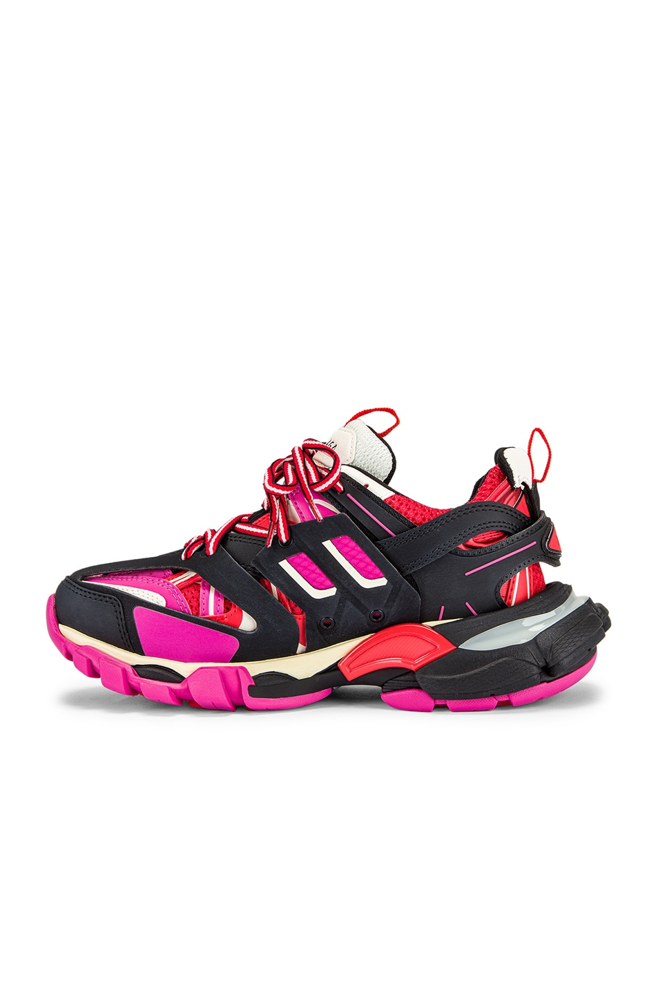 Image 5 of Balenciaga Track Sneakers in Black & Pink