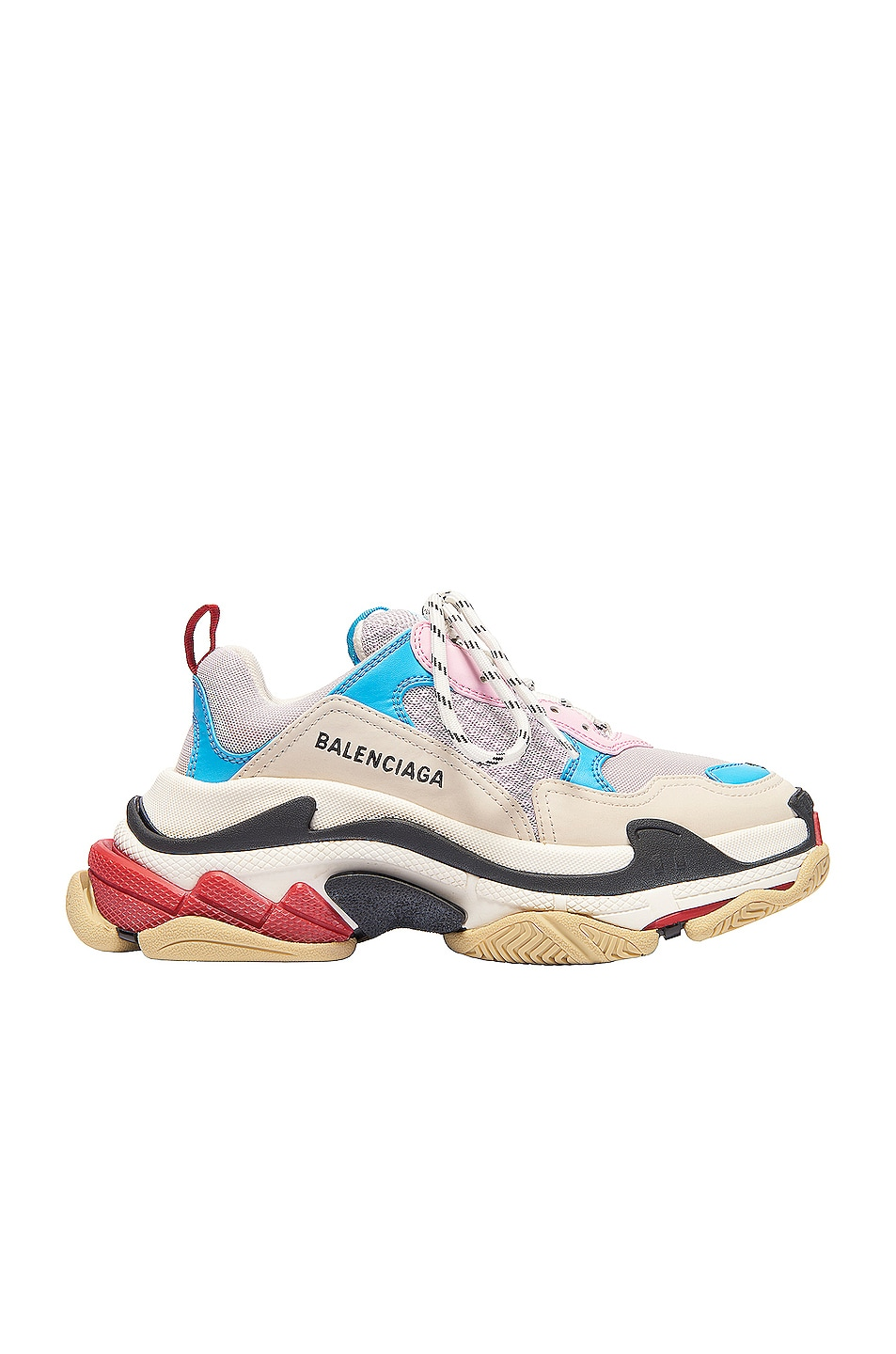Image 1 of Balenciaga Triple S Sneakers in White & Blue