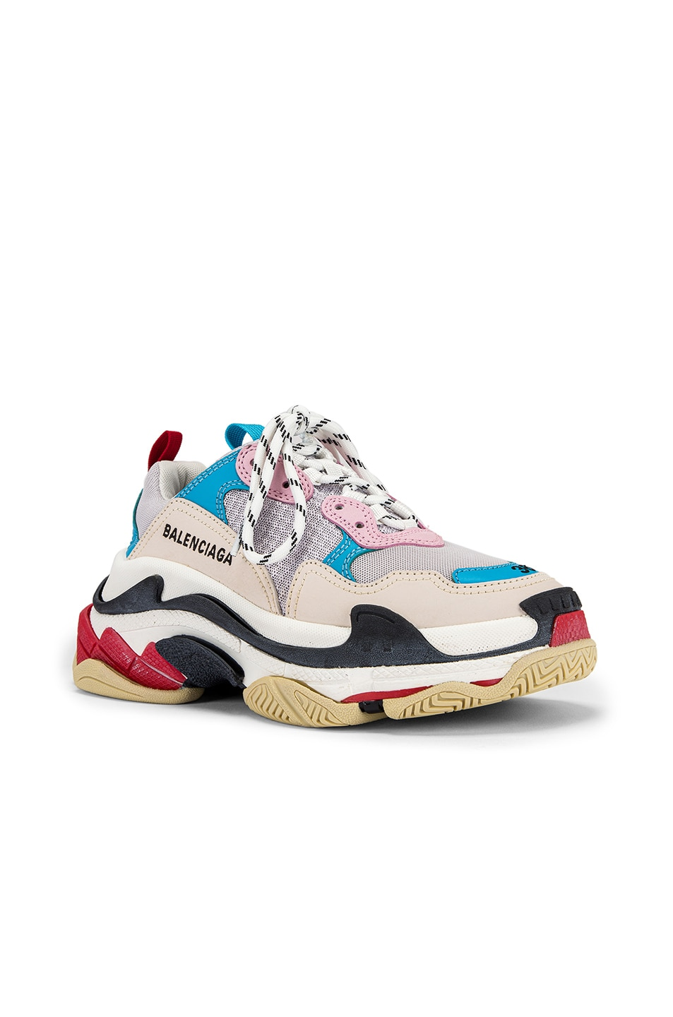 Image 2 of Balenciaga Triple S Sneakers in White & Blue