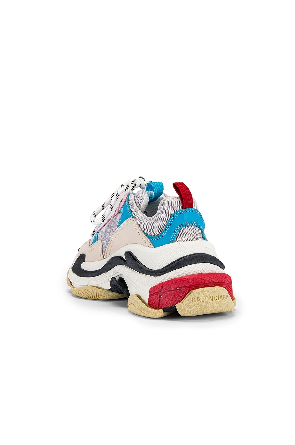 Image 3 of Balenciaga Triple S Sneakers in White & Blue