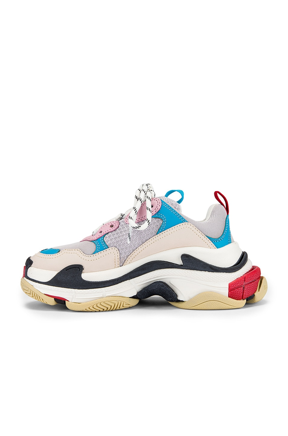 Image 5 of Balenciaga Triple S Sneakers in White & Blue