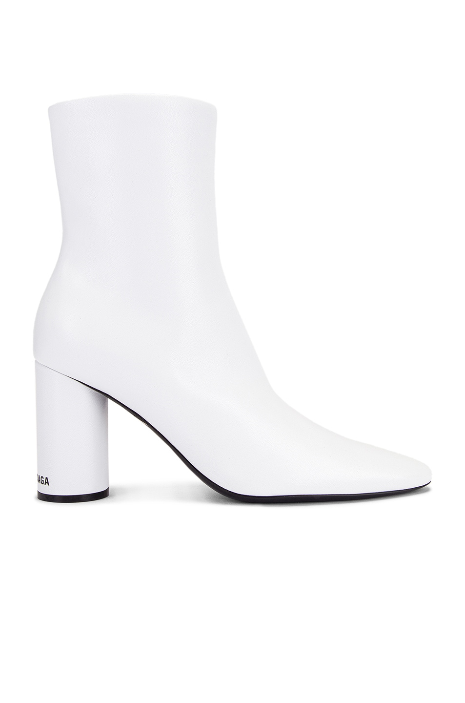 Image 1 of Balenciaga Oval Booties in White & Black