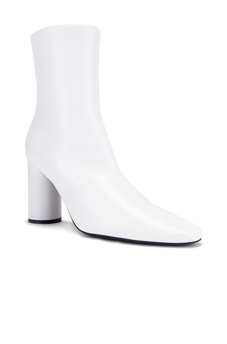 Image 2 of Balenciaga Oval Booties in White & Black