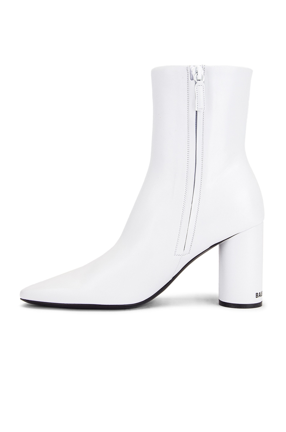 Image 5 of Balenciaga Oval Booties in White & Black