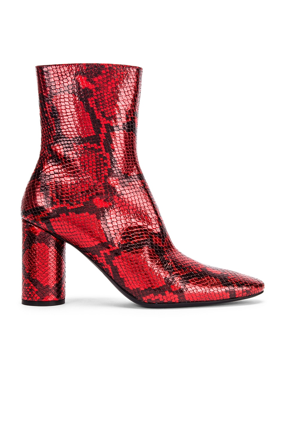 Image 1 of Balenciaga Oval Snake Booties in Red