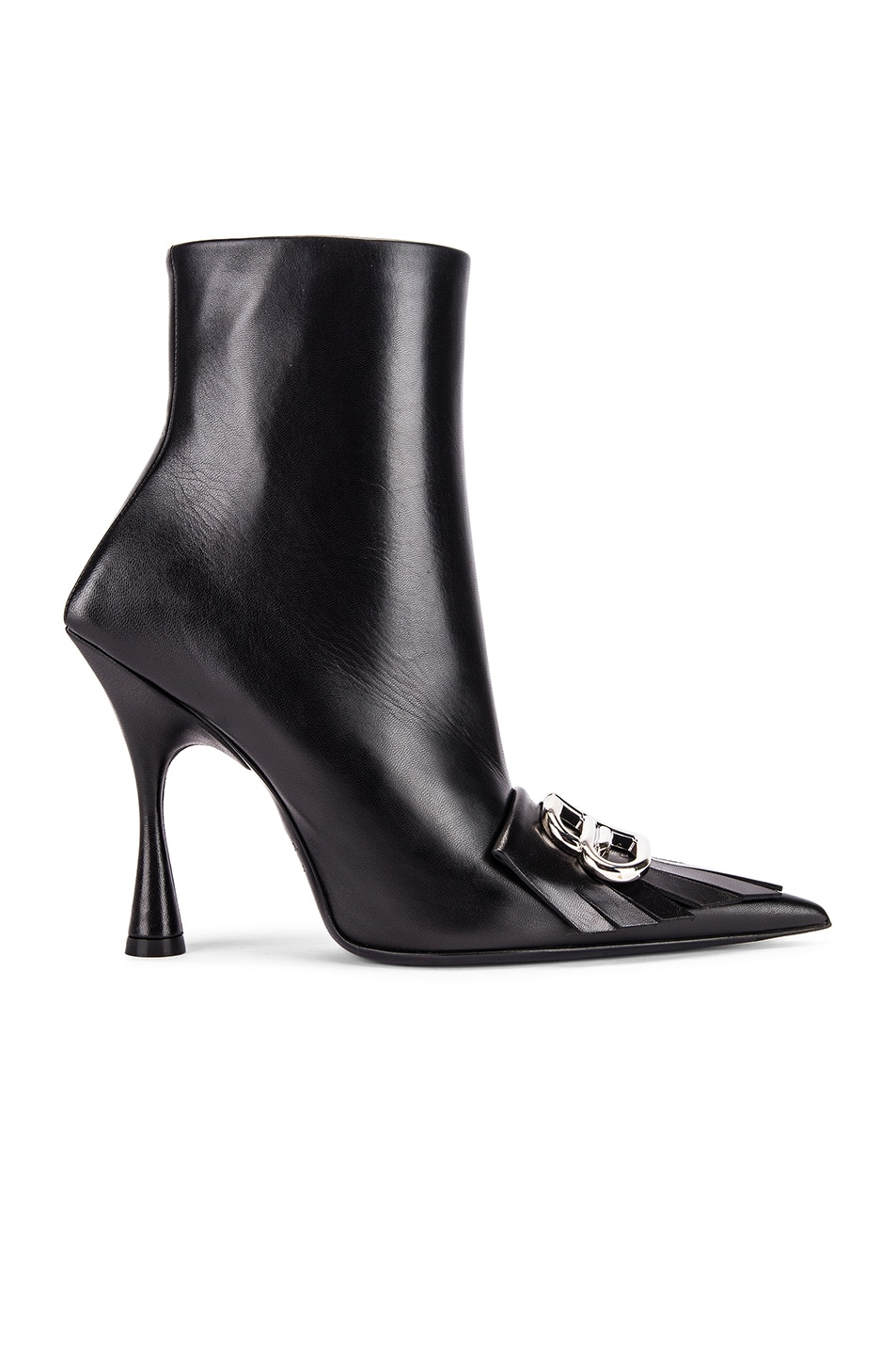 Image 2 of Balenciaga Fringe Knife Booties in Black & Silver