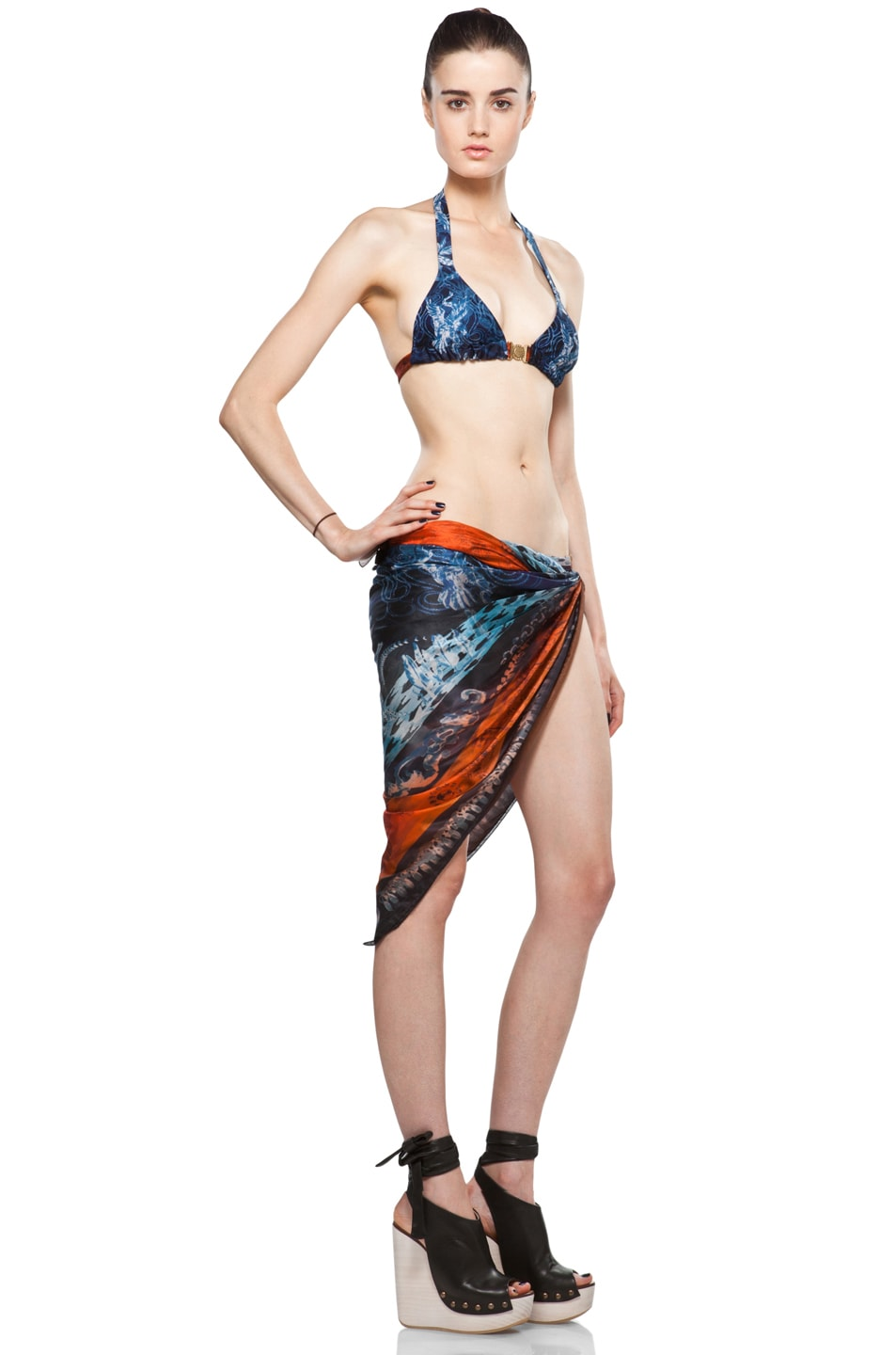 Image 3 of Balmain Beachwear Pareo in Navy