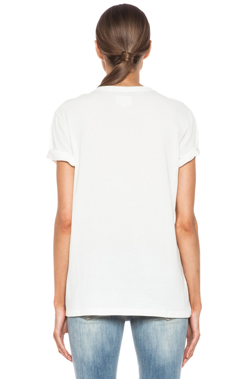 4f688d9dfd5 Image 4 of Band of Outsiders Chateau Marmont Cotton Tee in White