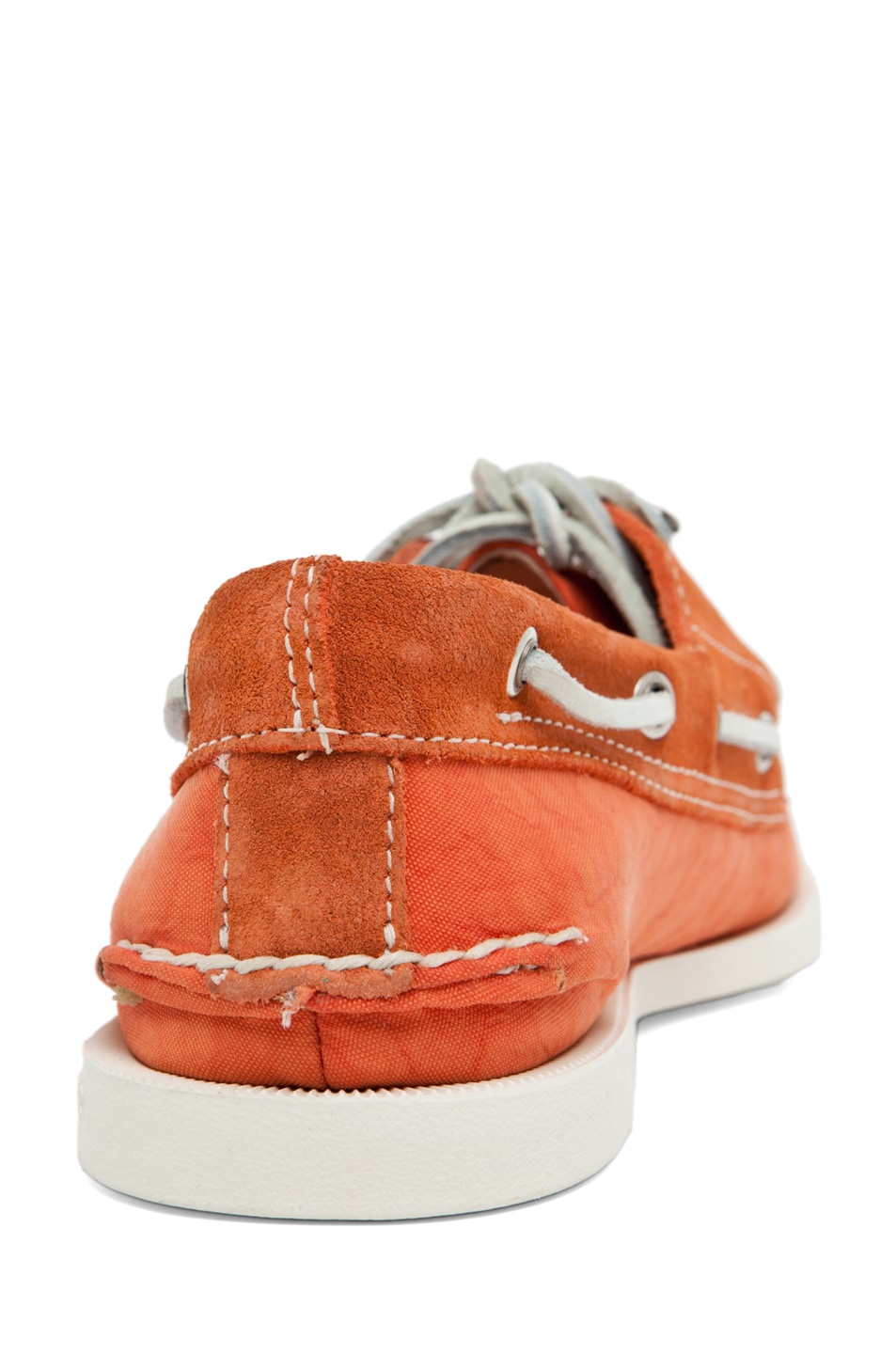 Image 3 of Band of Outsiders x Sperry Top-Sider 3 Eye Boat Shoe in Orange