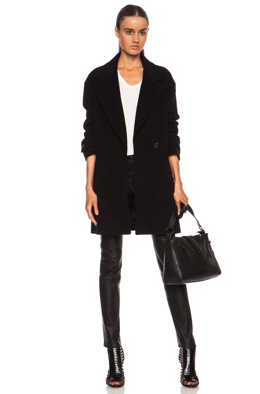 Image 1 of Barbara Bui Blazer Wool-Blend Coat in Black