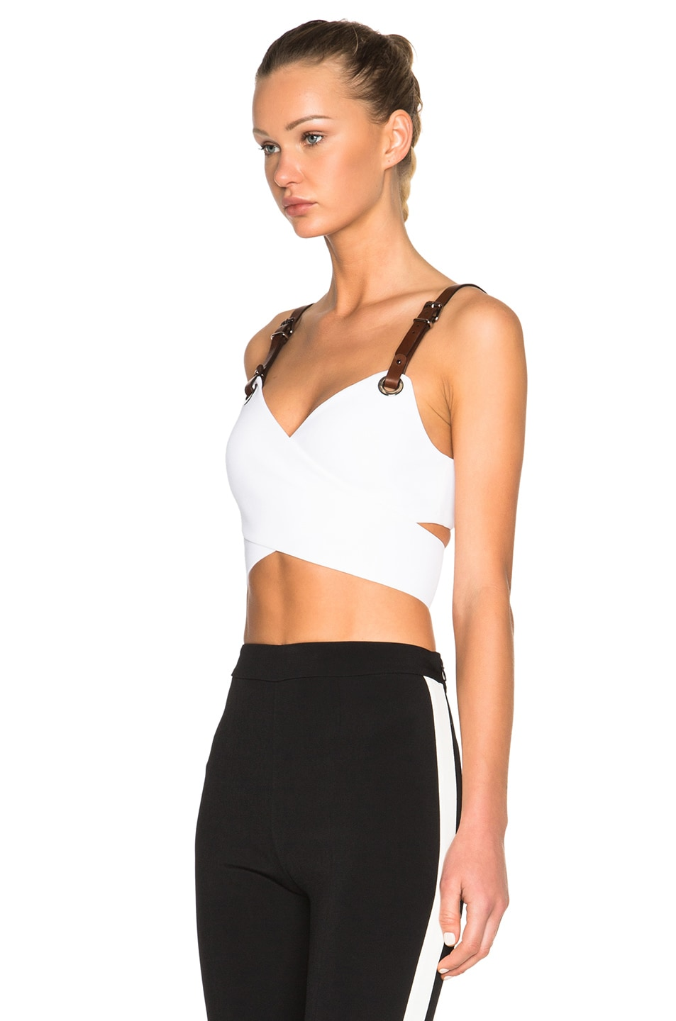 30c070d4d5a Image 2 of Barbara Bui Wrap Crop Top in White