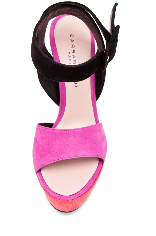 Image 4 of Barbara Bui Ankle Strap Heel in Pink/Black