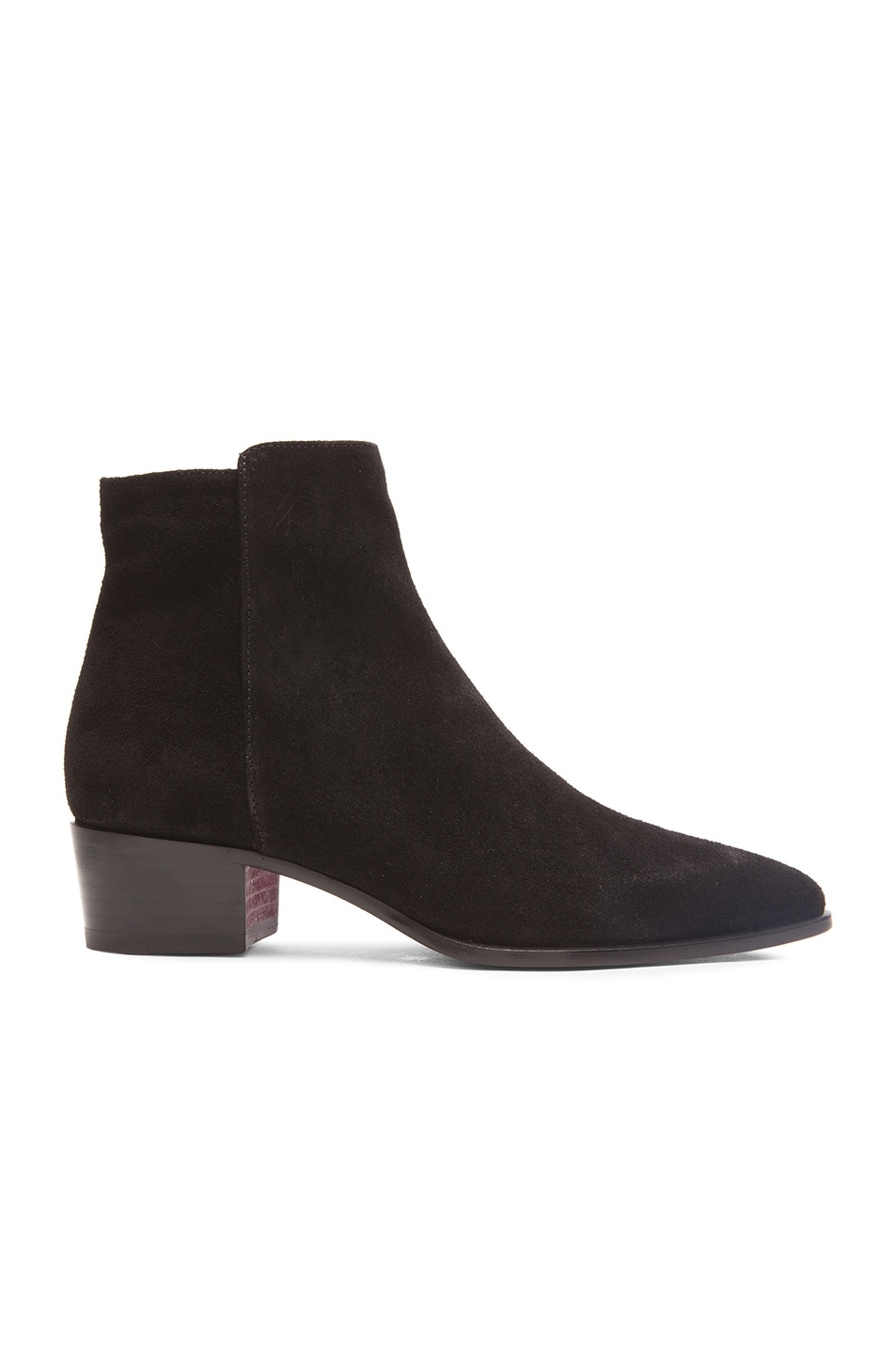 barbara bui suede low boots in black fwrd