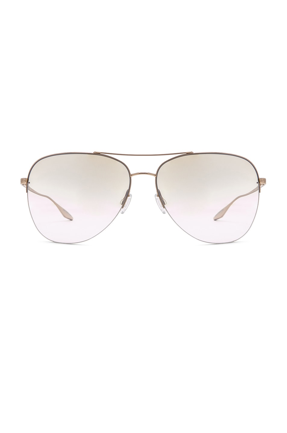 70983be8f Image 1 of Barton Perreira Chevalier Sunglasses in Gold & Yellow Mirror