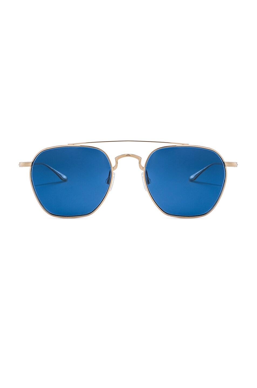 Image 1 of Barton Perreira Doyen Sunglasses in Gold & Navy Gradient