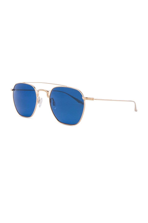 Image 2 of Barton Perreira Doyen Sunglasses in Gold & Navy Gradient