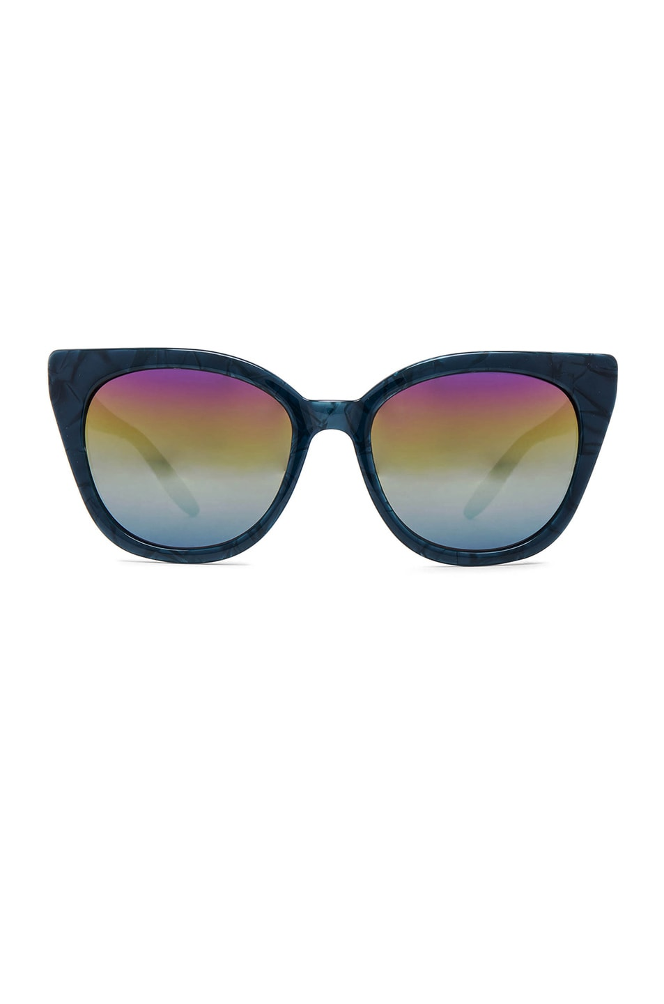 Image 1 of Barton Perreira for FWRD Shirelle Sunglasses in Blue Velvet