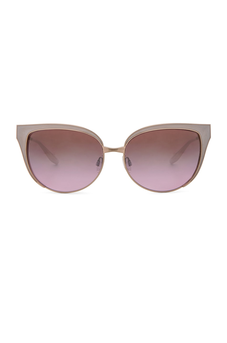 Image 1 of Barton Perreira for FWRD Valerie Sunglasses in Ivory & Lilac