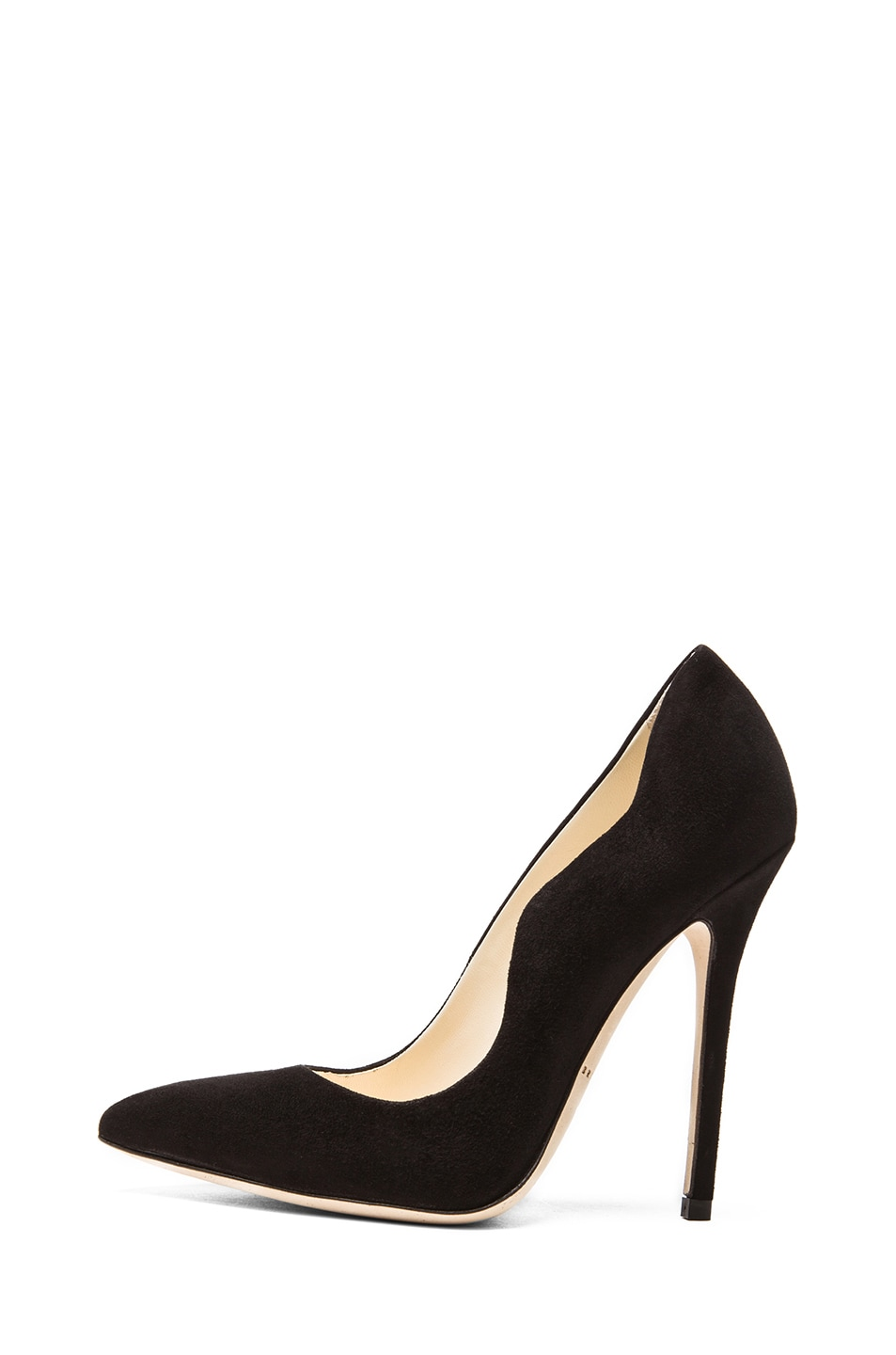 Image 1 of Brian Atwood Besame Suede Pumps in Black Suede