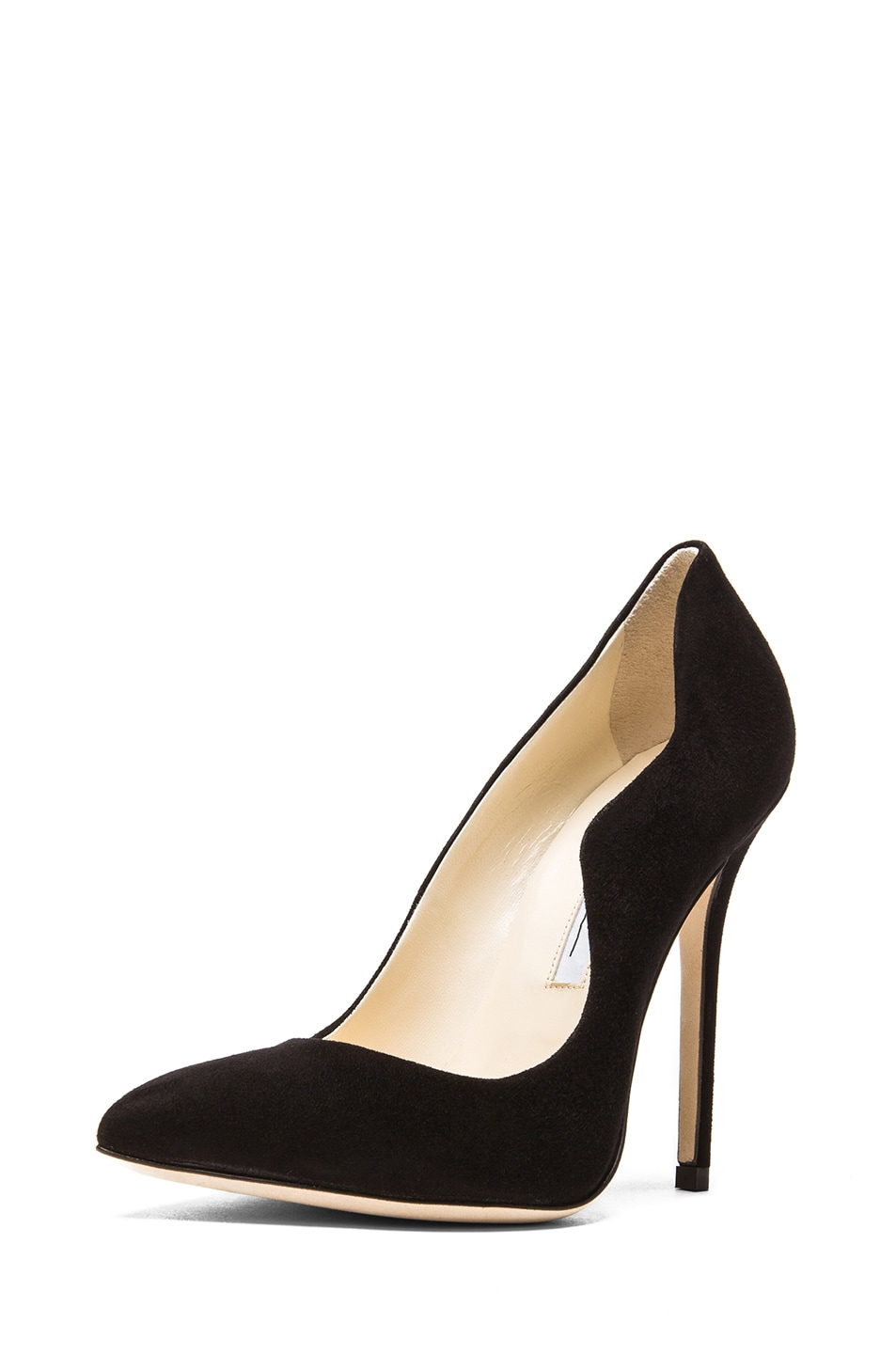 Image 2 of Brian Atwood Besame Suede Pumps in Black Suede
