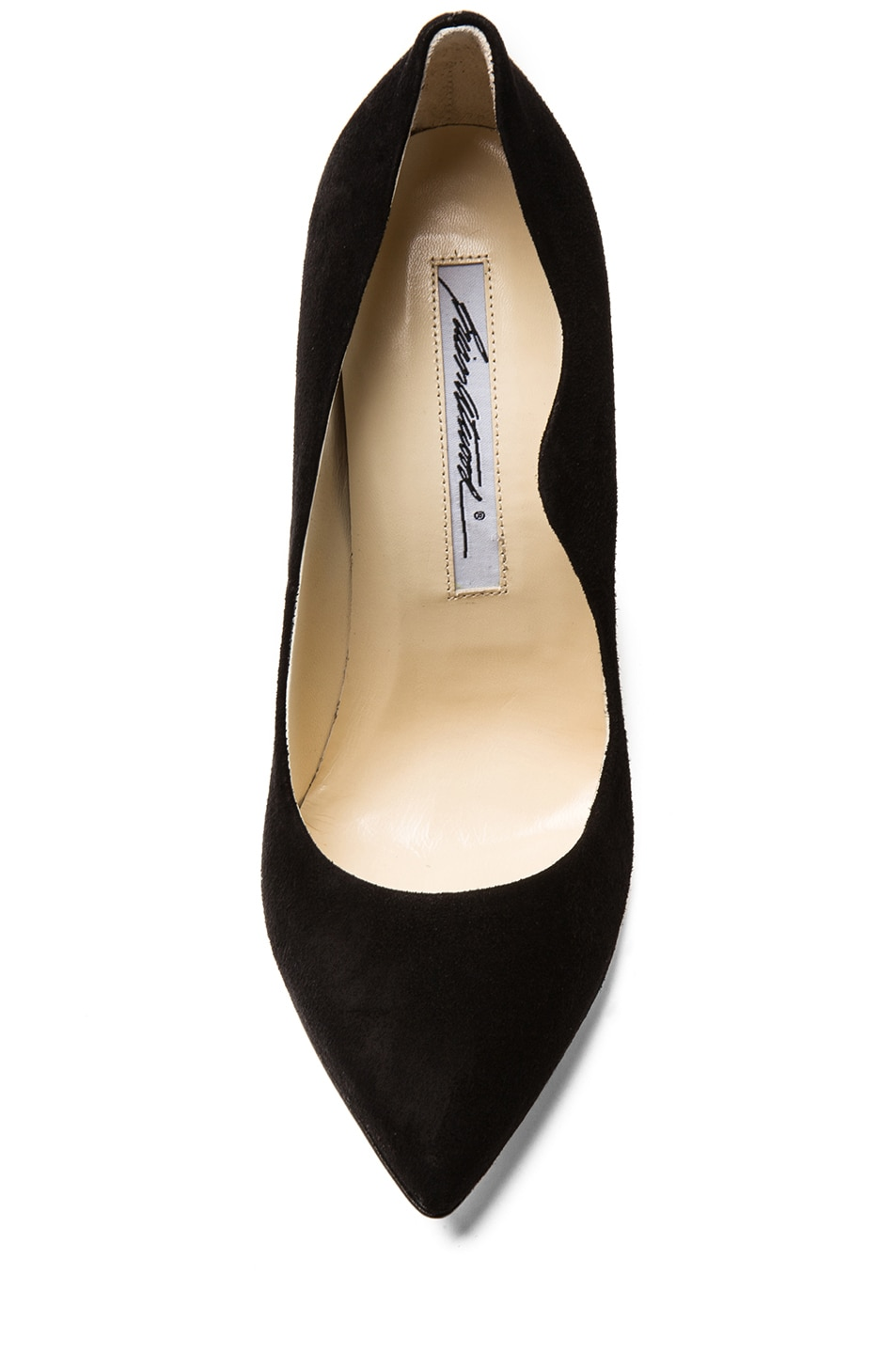 Image 4 of Brian Atwood Besame Suede Pumps in Black Suede