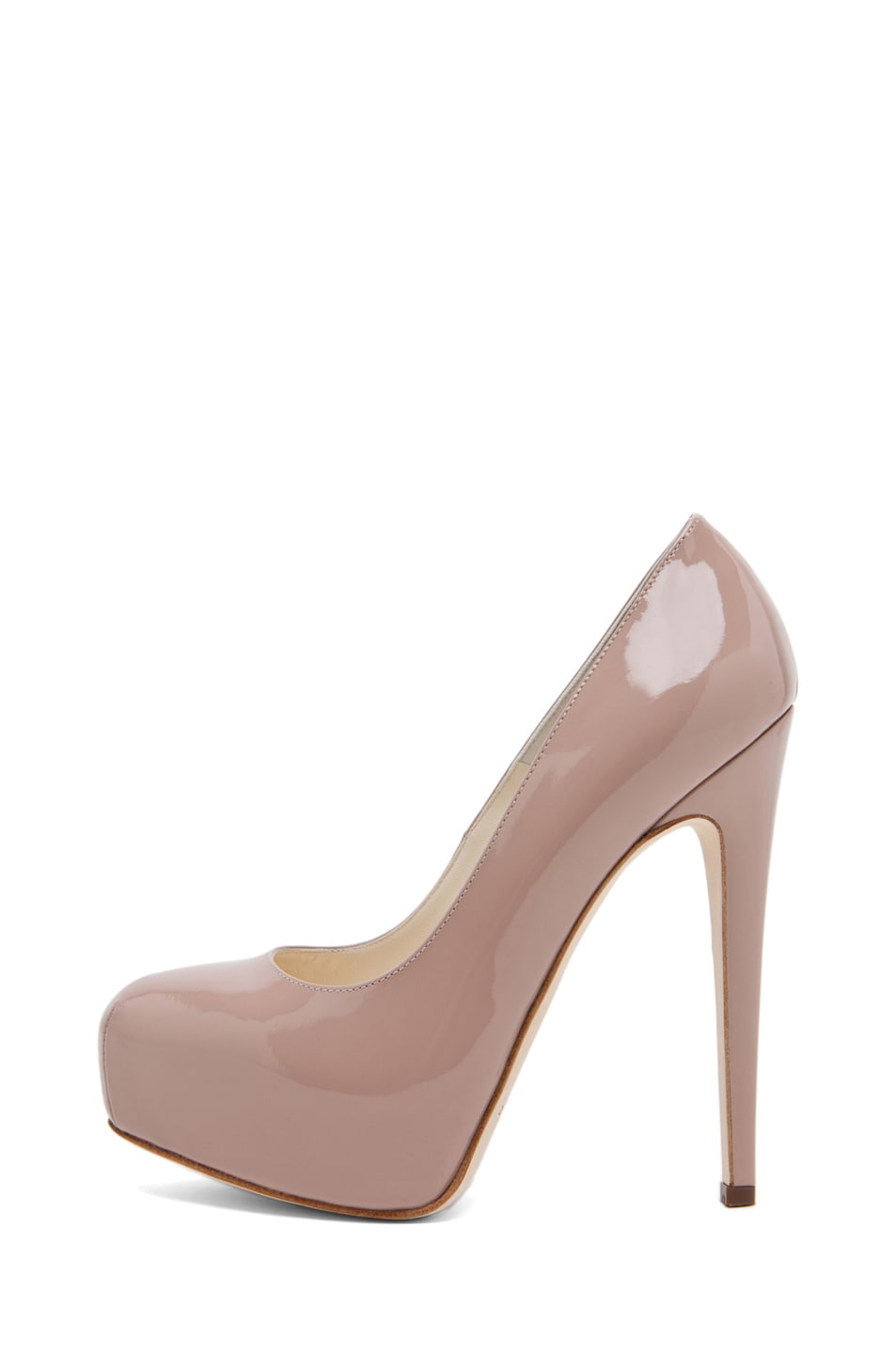 Image 1 of Brian Atwood Maniac Pump in Cappuccino Nude
