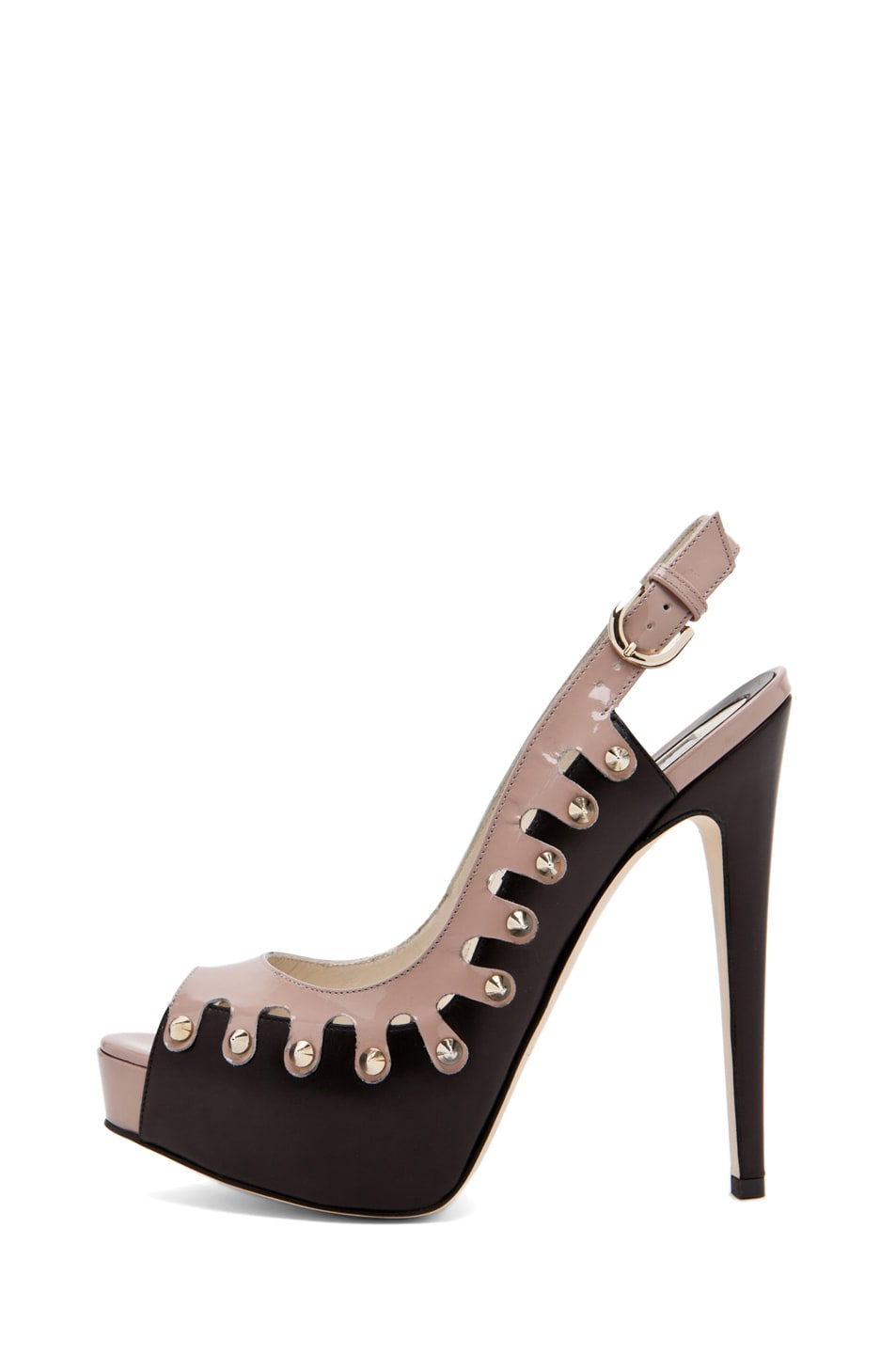 Image 1 of Brian Atwood Neela in Black/Cappuccino Nude