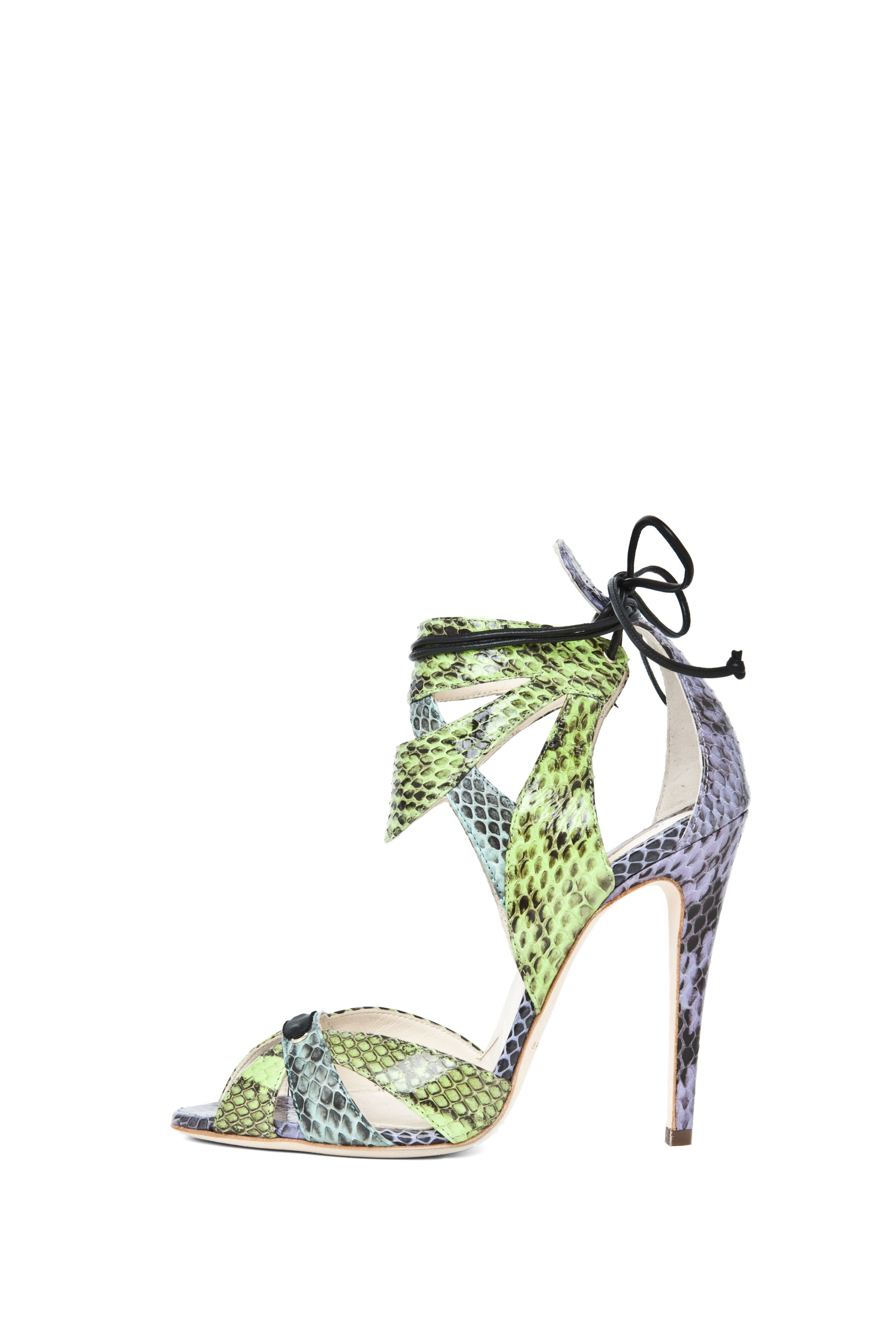 Image 1 of Brian Atwood Uma Snakeskin Sandal in Multi