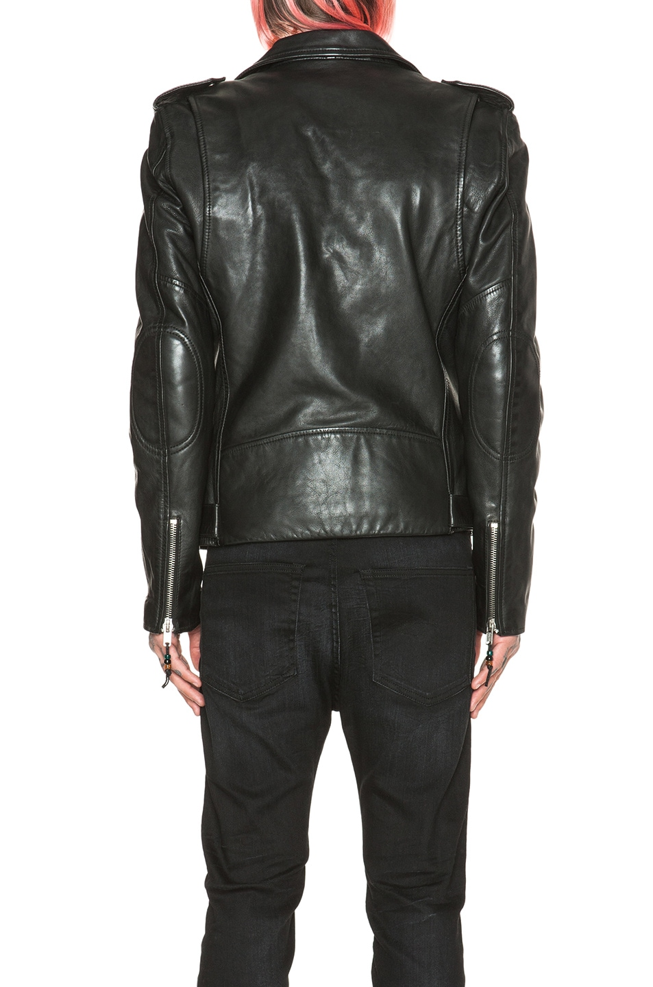 c4c76008b7 Image 5 of BLK DNM Leather Motorcycle Jacket in Black