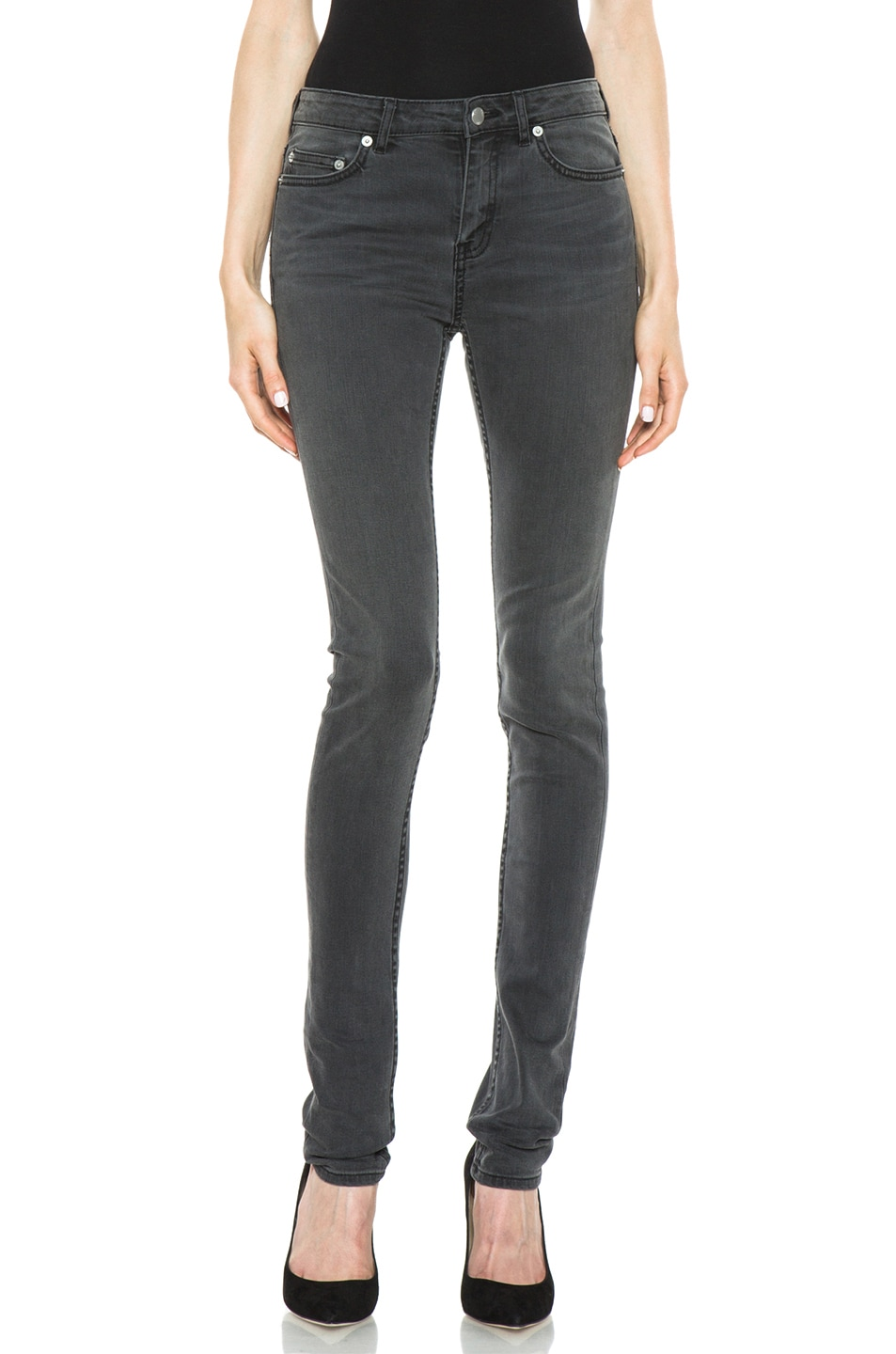 Image 1 of BLK DNM Low Waisted Skinny in Staple Grey