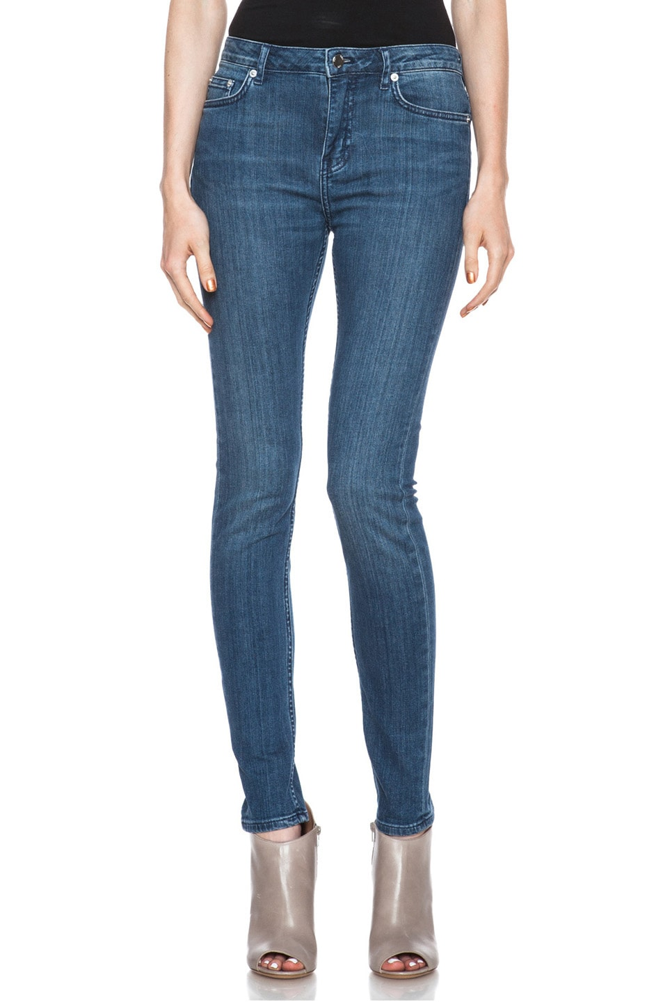 Image 1 of BLK DNM Low Waisted Skinny Straight Leg in Lott Blue
